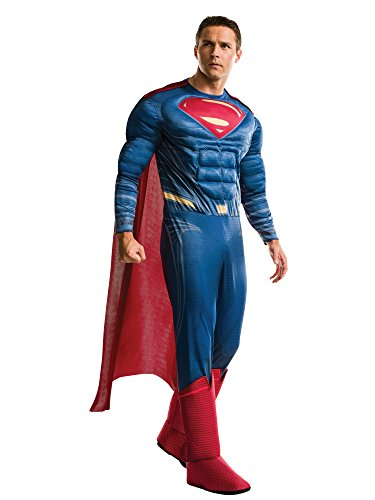 Rubie's Adult Batman V Superman: Dawn of Justice- Deluxe Superman Costume