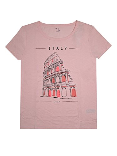 Gap Pink Shirt - GAP Women's Lightweight Crewneck City Tee (M, Italy Pink)