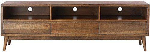 "Home Decorators Collection Conrad Tv Stand, 22"" Hx67 Wx18 D, Antique Natural - 21.75""H x 67""W x 17.75""D. Assembly required. Our No Hassle Return policy gives you peace of mind to enjoy the purchase in your home for up to 45 days. - tv-stands, living-room-furniture, living-room - 41YDO89mwAL -"