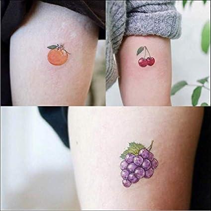 ruofengpuzi Etiqueta engomada del tatuaje Fruta De La Fresa ...