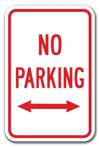 Arrow Double Sign (No Parking with double arrow Sign 12