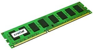 Crucial 4GB Single DDR3 1600 MT/s (PC3-12800) CL11 Unbuffered ECC UDIMM 240-Pin 1.35V/1.5V Server Memory CT51272BD160B