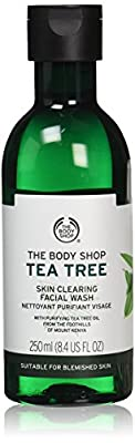 The Body Shop Tea Tree Skin Clearing Facial Wash, Made with Tea Tree Oil, for Blemish-Prone Skin, 100% Vegan