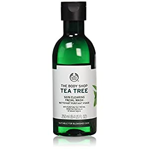 The Body Shop Tea Tree Skin Clearing Facial Wash, Made with Tea Tree Oil, for Blemish-Prone Skin, 100% Vegan, 8.4 Fl. Oz.