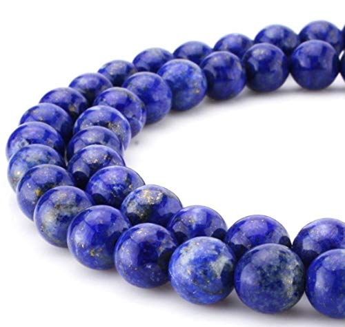 2 Strands x AAA Natural Lapis Lazuli Gemstone Loose Round Beads 6mm Spacer Beads (15.5