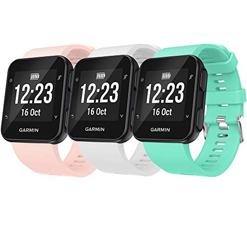 QGHXO Band for Garmin Forerunner 35, Soft Silicone Replacement Watch Band Strap for Garmin Forerunner 35 Smart Watch, Fit 5.11