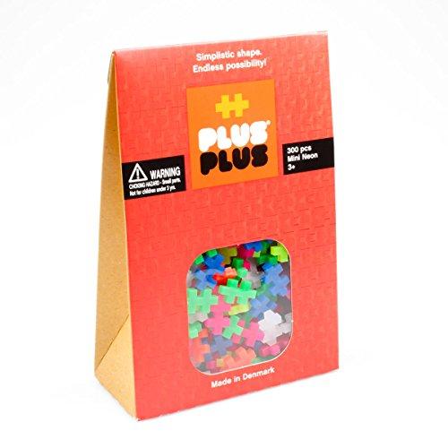 - Plus-Plus - Construction Building Toy, Open Play Set - 300 Piece - Neon Color Mix