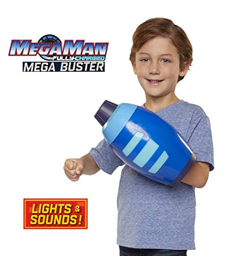 Mega Man Fully Charged - Kid-Sized Roleplay Mega Buster with Over 10 Light Patterns and Authentic Sounds! Become Mega Man! Based on The New Show! -