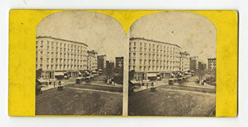 (19th Century New York - Stereoview Photo - 5th Avenue, Madison Square, N.Y.)