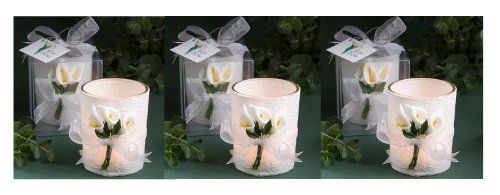 Candle Lily Stunning Calla - Stunning Calla Lily Design Candle Favors (Set of 6)