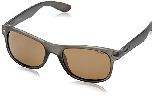 Matt PLD de Grey 1015 Rectangulares Polaroid Gris para Gafas Pz hombre S sol Brown vACqZ1w