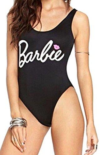 237ced2928c4 Body Bañador Mujer Completo para Uso Diario y Casual (Barbie Negro ...