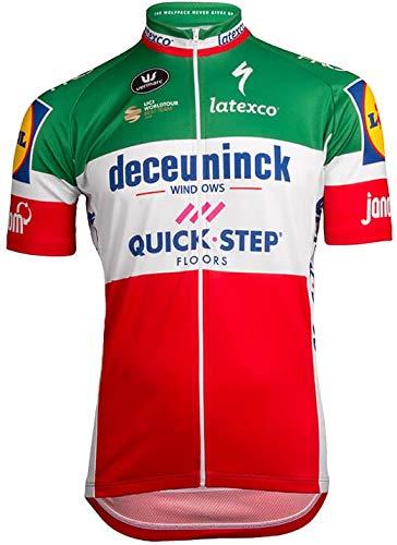 自転車ウェア 2019 Deceuninck Quickstep 半袖ジャージ XXLサイズ イタリアチャンピオン仕様   B07PRLN8XW