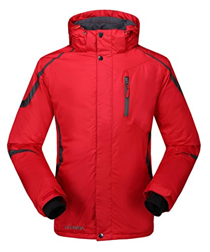 Krumba Men's Sportswear Outdoor Waterproof Windproof Hooded Warm Ski Jacket...