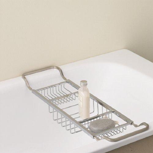 Valsan 53413NI Essentials Contemporary Adjustable Bathtub Rack in Polished Nickel