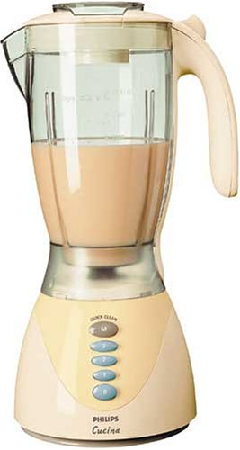 amazon.de: philips hr 1754/6 standmixer cucina twister creme/perlblau - Philips Cucina Küchenmaschine