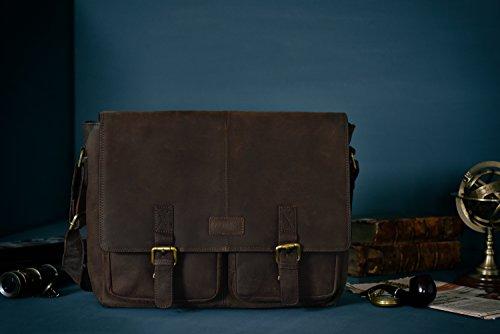 LEABAGS Cambridge bolso bandolera de auténtico cuero búfalo en el estilo vintage - NuezMoscada NuezMoscada