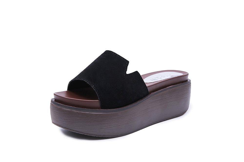 35c5af6aa1bec Amazon.com  LYLIFE Womens Sweet Flowver Bow Sandals Thick Heel Shape  Sandals Plumeria Flower High Platform Wedge Flip Flop Thong Sandals  Shoes