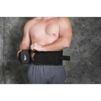 Wraptor System Lumbosacral Orthosis in Black Size: Small by Core Products