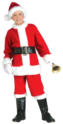Child Santa Claus Costumes (Santa Claus Suit Child Costume - Large)