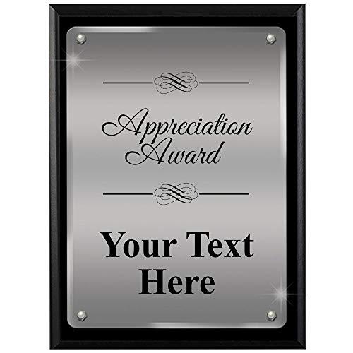 (Crown Awards Corporate Appreciation Plaques - 8 x 10 Appreciation Award Ascendant Floating Acrylic Recognition Trophy Plaque Award)