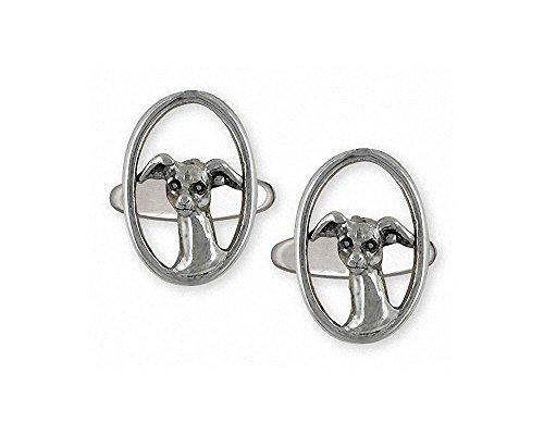 Italian Greyhound Cufflinks Jewelry Sterling Silver Handmade Ig Cufflinks IG7-CL