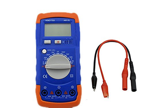 Signstek Digital LCD Display A6013L Manual Capacitance Capacitor Meter Tester Multimeter 200pF ~ 20mF