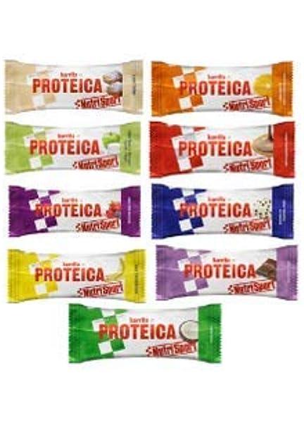 12 Barritas Proteicas Nutrisport Variadas 46 gr.: Amazon.es ...
