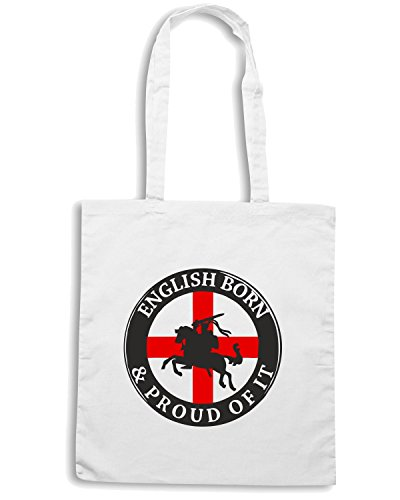 T-Shirtshock - Bolsa para la compra OLDENG00059 english born proud of it Blanco