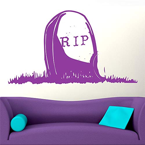 Yunhaa Wall Decal Wall Written Vinyl Wall Decals Quotes Sayings Words Art Deco Lettering Rip Gravestone for Halloween Day