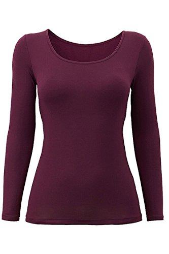 Cutiefox Womens Outdoor Built In Bra Padded Long Sleeve T Shirt Top (Long Sleeve Bra)