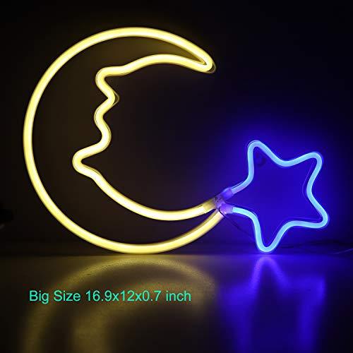Moon Neon Light Blue