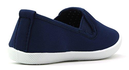 29231 CAMO Freizeitschuhe Kinder Slipper Sneaker Sport Ballerina Mokassins Schuhe (EU 24-35) Navy Blau