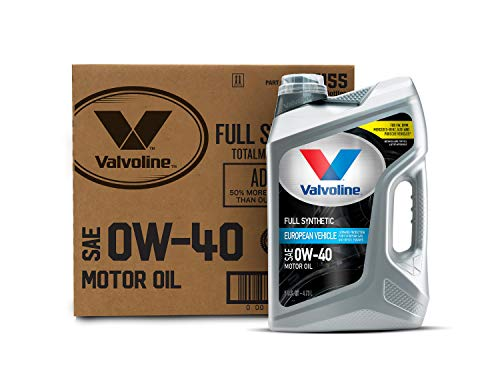 Valvoline 881155 European Vehicle SAE 0W-40 Full Synthetic Motor Oil 5QT, Case of 3, 3 Pack