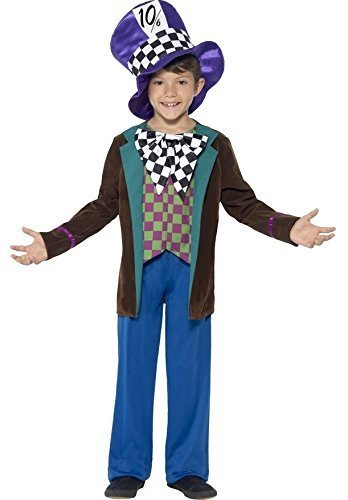 [Boys Deluxe Hatter Mad Hatter Alice In Wonderland Lewis Carrol Book Age 7-9] (Kids Mad Hatters Tea Party Costumes)