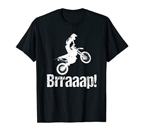 Brraaap Funny Dirt Bike Motocross T-Shirt For - Racing Bike Honda Dirt