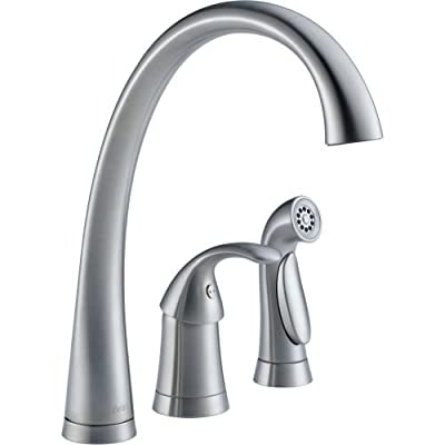 Delta Pilar Single Handle Kitchen Faucet with Touch2O Technology and Spray