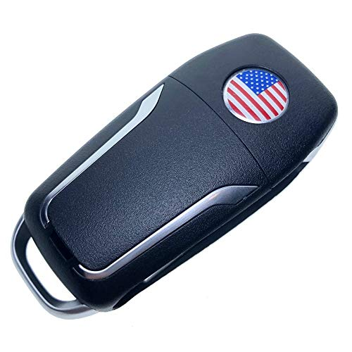 Uniqkey GT-Style All in One Flip key remote Replacement for H3 L2C0007T Keyless Entry Control Fob Clicker switchblade Transmitter folding