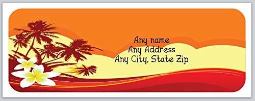 150 Personalized Address Labels Scenic Beach (c 683) ()