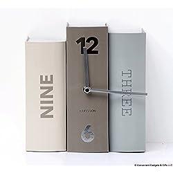Karlsson Table Book Clock - Grey