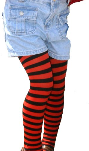 Kid's Black Striped Tights in 20 Color Combos and 4 sizes!]()