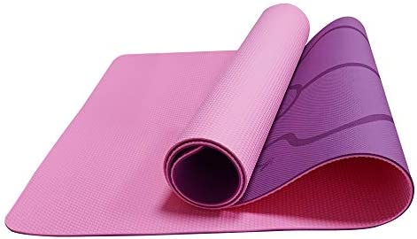 "Yoga Mat Exercise Fitness Mat with Strap, Large Eco-Friendly TPE Material Non Slip Excercise Mat for Yoga, Pilates, Stretching, Floor & Fitness Workouts for Yoga Home Gym (72""L x 24""W x 6mm Thick)"