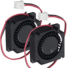 Package include: 1 Piece fan and mounting screws & nuts  Size:30x30x10mm  Rated Voltage: 24V Rated Current: 0.06A Connecter: XH2.54-2Pin Power: 1.1W Speed: 9000RPM  Air flow:1.75CFM  Noise:28dBA Bearing type: Sleeve Bearing  Cable Length:...