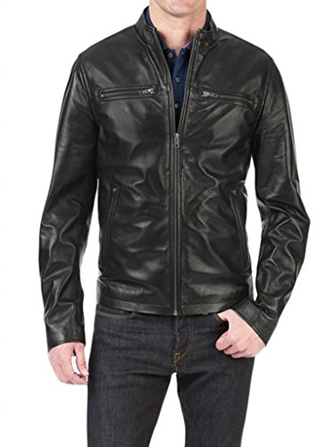 Hombre Chaqueta Junction Leather Negro Para tHpt5w