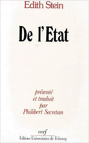 Lire DE L'ETAT pdf