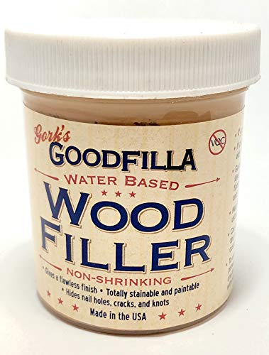 Water-Based Wood & Grain Filler - Red Oak - 8 oz by Goodfilla | Replace Every Filler & Putty | Repairs, Finishes & Patches | Paintable, Stainable, Sandable & Quick Drying ()