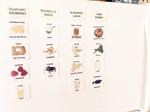 Amazon.com: Magnetic Food Picture Cards & Menu Planner — Tarjetas de ...