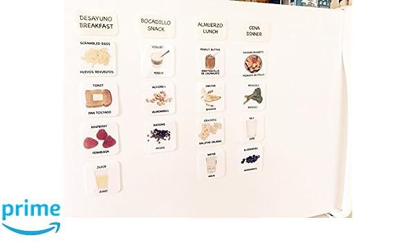 Amazon.com: Magnetic Food Picture Cards & Menu Planner — Tarjetas de comida con magnetos — AUTISMO, NUTRICIÓN, EL ALZHEIMER, DEMENCIA, COMMUNICACIÓN: Toys & ...