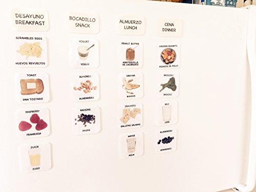 Magnetic Food Picture Cards & Menu Planner - Tarjetas de comida con magnetos - AUTISMO, NUTRICIÓN, EL ALZHEIMER, DEMENCIA, COMMUNICACIÓN