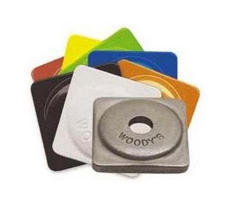 Plates Aluminum Square Support (Woodys Aluminum Square Support Plates Natural - 7mm Thread ASW-3725)